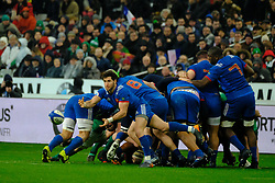 February 3, 2018 - Saint Denis, Seine Saint Denis, France - The scrum-half of French Team MAXIME MACHENAUD in action during the NatWest Six Nations Rugby tournament between France and Ireland at the Stade de France - St Denis - France..Ireland Won 15-13 (Credit Image: © Pierre Stevenin via ZUMA Wire)