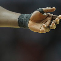 14 March 2012: Close view of  Chicago Bulls small forward Luol Deng's wrist during the Chicago Bulls 106-102 victory over the Miami Heat at the United Center, Chicago, Illinois, USA.