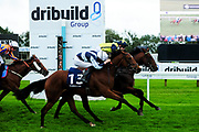 Surrey Pride ridden by Charles Bishop and trained by J Tuite, So I Told You ridden by Finley Marsh and trained by R Hughes, Vulcan ridden by Jason Watson and trained by H L J Dunlop - Ryan Hiscott/JMP - 30/09/2019 - PR - Bath Racecourse - Bath, England - Race Meeting at Bath Racecourse