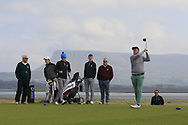 Eoin Murphy (Dundalk) on the 12th tee during Round 4 of The West of Ireland Open Championship in Co. Sligo Golf Club, Rosses Point, Sligo on Sunday 7th April 2019.<br /> Picture:  Thos Caffrey / www.golffile.ie