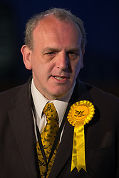 © Licensed to London News Pictures . 06/06/2014 . Newark , Nottinghamshire , UK . Liberal Democrat candidate David Watts , after the results are declared . The count for the Newark by-election at Kelham Hall , Newark , this morning (Friday 6th June 2014) . Photo credit : Joel Goodman/LNP