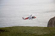 Coastguard cliff rescue near Durdle Door, Dorset, England