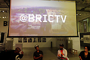 """10 October-New York, NY- (L-R) Recording Artist Masud """"Mikeflo"""" Asante, Social Entrepreneur Ryann Holmes, Visual Artist/Arts Educator Bayeté Ross Smith and Arts Educator Monica L. Miller attend the BRIC Stoop Series for 'Black Masculinity and the Style of Resistance' held at BRIC on October 10, 2017 in Brooklyn, New York City.  (Photo by Terrence Jennings/terrencejennings.com)"""