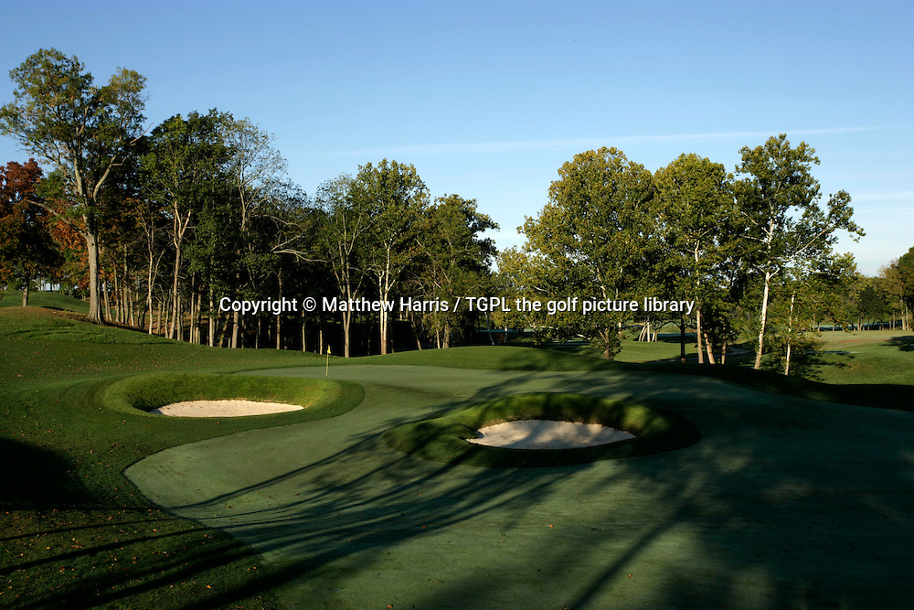 Valhalla during autumn 2007. Venue for the 2008 Ryder Cup Matches between USA and Europe to be staged in September.<br /> Shown here 16th - par 4.