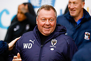 Wimbledon Manager Wally Downes  during the EFL Sky Bet League 1 match between Coventry City and AFC Wimbledon at the Ricoh Arena, Coventry, England on 12 January 2019.