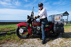 Roger Green on his 1937 Harley-Davidson ULH Flathead in the Cross Country Chase motorcycle endurance run from Sault Sainte Marie, MI to Key West, FL. (for vintage bikes from 1930-1948). Stage-6 from Chattanooga, TN to Macon, GA USA covered 258 miles. Wednesday, September 11, 2019. Photography ©2019 Michael Lichter.