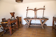 Historic milling equipment at Museum and folklore arts centre, Casa Museo Monumento al Campesino,  Lanzarote, Canary Islands, Spain