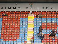 The Jimmy McIlroy stand, named in tribute to Jimmy McIlroy, a former Burnley player who died on August 20th<br /> <br /> Photographer Alex Dodd/CameraSport<br /> <br /> UEFA Europa League - UEFA Europa League Qualifying Second Leg 2 - Burnley v Olympiakos - Thursday August 30th 2018 - Turf Moor - Burnley<br />  <br /> World Copyright © 2018 CameraSport. All rights reserved. 43 Linden Ave. Countesthorpe. Leicester. England. LE8 5PG - Tel: +44 (0) 116 277 4147 - admin@camerasport.com - www.camerasport.com