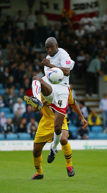 Photo: Marc Atkins.<br /> <br /> Milton Keynes Dons v Notts County. Coca Cola League 2. 02/09/2006. Drissa Diallo of MK Don's in action.