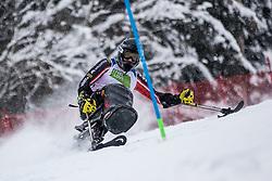 Cairns Alex of Canada during Slalom race at 2019 World Para Alpine Skiing Championship, on January 23, 2019 in Kranjska Gora, Slovenia. Photo by Matic Ritonja / Sportida