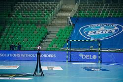 Official Ball seen before handball match between RK Krim Mercator (SLO) and Vipers Kristiansand (NOR), on September 12, 2020 in Arena Stožice, Ljubljana, Slovenia. Photo by Sinisa Kanizaj / Sportida