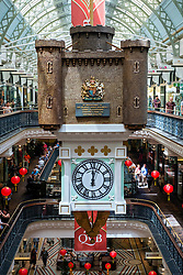 Interior of historic Queen Victoria Building or QVB shopping arcade in central Sydney Australia