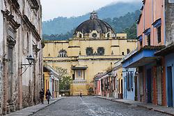 Street scene near Le Merced church, Antigua, Guatemala
