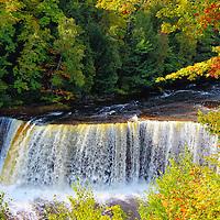 """""""Upper Tahquamenon Falls"""" 3<br /> <br /> Scenic Upper Tahquamenon Falls during early autumn. Locatedin Michigan's Upper Peninsula!!<br /> <br /> Waterfalls by Rachel Cohen"""
