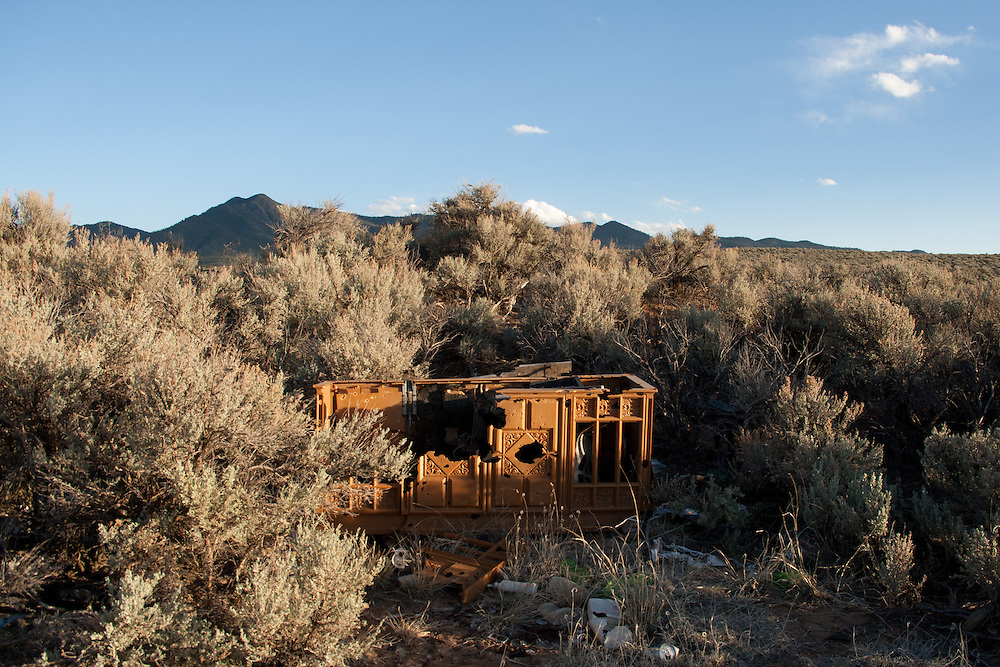 Scene from a vacant lot in Ranchos De Taos, May 2011.