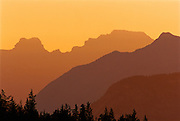 Canadian Rockies at sunset<br /> Banff National Park<br /> Alberta<br /> Canada