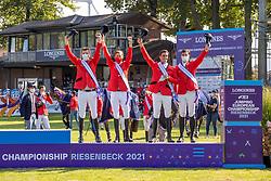 Team Belgium, Verlooy Jos, Devos Pieter, Philippaerts Olivier, Philippaerts Nicola, Weinberg Peter<br /> European Championship Riesenbeck 2021<br /> © Hippo Foto - Dirk Caremans<br /> 03/09/2021