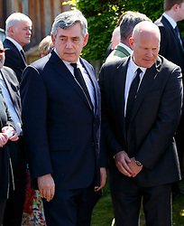 © Licensed to London News Pictures. 12/06/2015. Fort William, UK. Ex-Prime Minister Gordon Brown attending the funeral of ex-Liberal Democrat leader Charles Kennedy at St John's Church in Caol, near his Fort William home in Scotland on Friday, June 12, 2015. Mr Kennedy died suddenly on June 1, 2015 at the age of 55 after suffering a major haemorrhage as a result of a long battle with alcoholism. Photo credit: Tolga Akmen/LNP