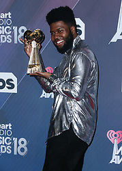 INGLEWOOD, LOS ANGELES, CA, USA - MARCH 11: 2018 iHeartRadio Music Awards held at The Forum on March 11, 2018 in Inglewood, Los Angeles, California, United States. 11 Mar 2018 Pictured: Khalid, Khalid Donnel Robinson. Photo credit: David Acosta/Image Press Agency / MEGA TheMegaAgency.com +1 888 505 6342