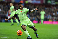 Raheem Sterling of Manchester city in action. Barclays Premier league match, Aston Villa v Manchester city at Villa Park in Birmingham, Midlands  on Sunday 8th November 2015.<br /> pic by  Andrew Orchard, Andrew Orchard sports photography.