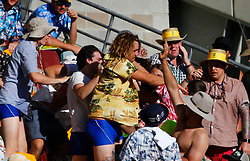 A fight breaks out in the crowd during day two of the Ashes Test match at The Gabba, Brisbane.