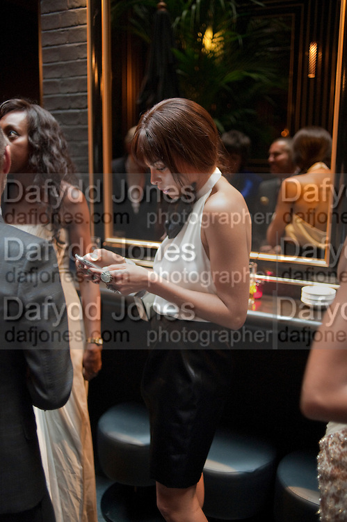 ANA ARAUJO;,  DSquared2 Launch of their Classic collection. Tramp. Jermyn St. London. 29 June 2011. <br /> <br />  , -DO NOT ARCHIVE-© Copyright Photograph by Dafydd Jones. 248 Clapham Rd. London SW9 0PZ. Tel 0207 820 0771. www.dafjones.com.