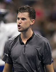 September 4, 2018 - Flushing Meadows, New York, U.S - Dominic Thiem reacts during his match against Rafael Nadal on Day 9 of the 2018 US Open at USTA Billie Jean King National Tennis Center on Tuesday September 4, 2018 in the Flushing neighborhood of the Queens borough of New York City. (Credit Image: © Prensa Internacional via ZUMA Wire)