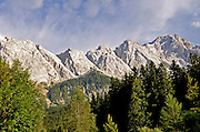 Eibsee, Bavaria, Germany.  Zugspitze mountain in the background
