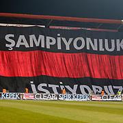Gaziantepspor's Supporters fans during their Turkish superleague soccer match Gaziantepspor between Fenerbahce at the Kamil Ocak stadium in Gaziantep Turkey on Saturday 26 January 2013. Photo by Aykut AKICI/TURKPIX
