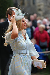 Ellie Goulding arrives ahead of the wedding of Princess Eugenie to Jack Brooksbank at St George's Chapel in Windsor Castle