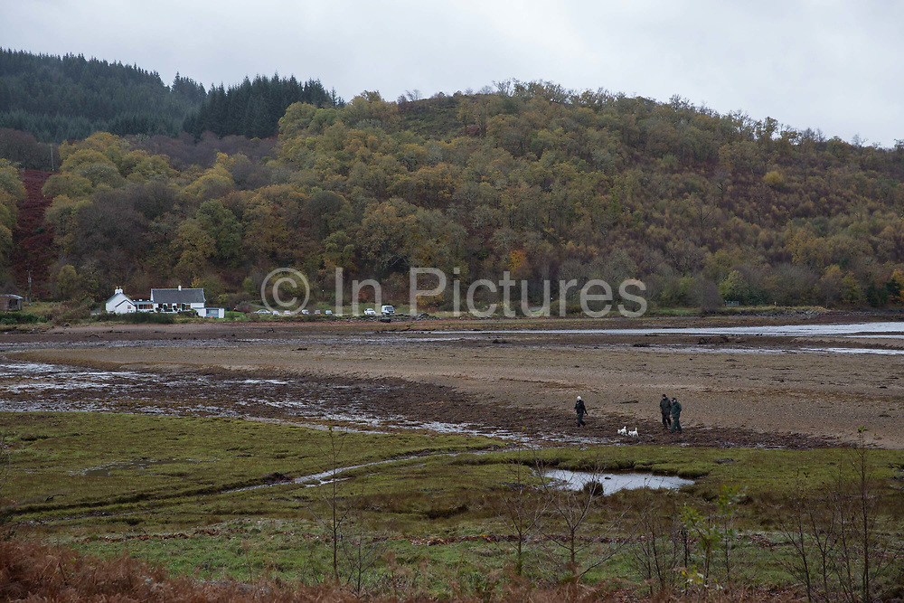 The remote Inver restaurant on the shores of Loch Fyne on the 3rd November 2018 in Strathlachlan in the United Kingdom. Strathlachlan is on the Cowal peninsula in Argyll and Bute in the west of Scotland.