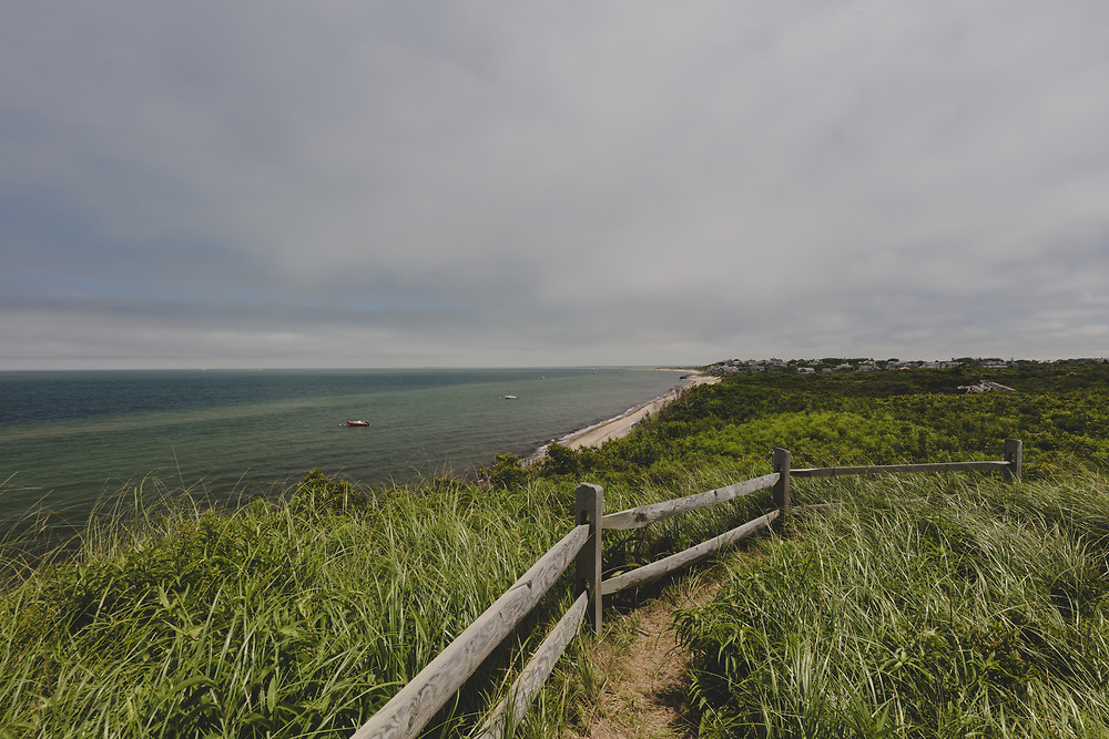 The sweeping waterfront landscape of the Northwest corner of Nantucket Island.