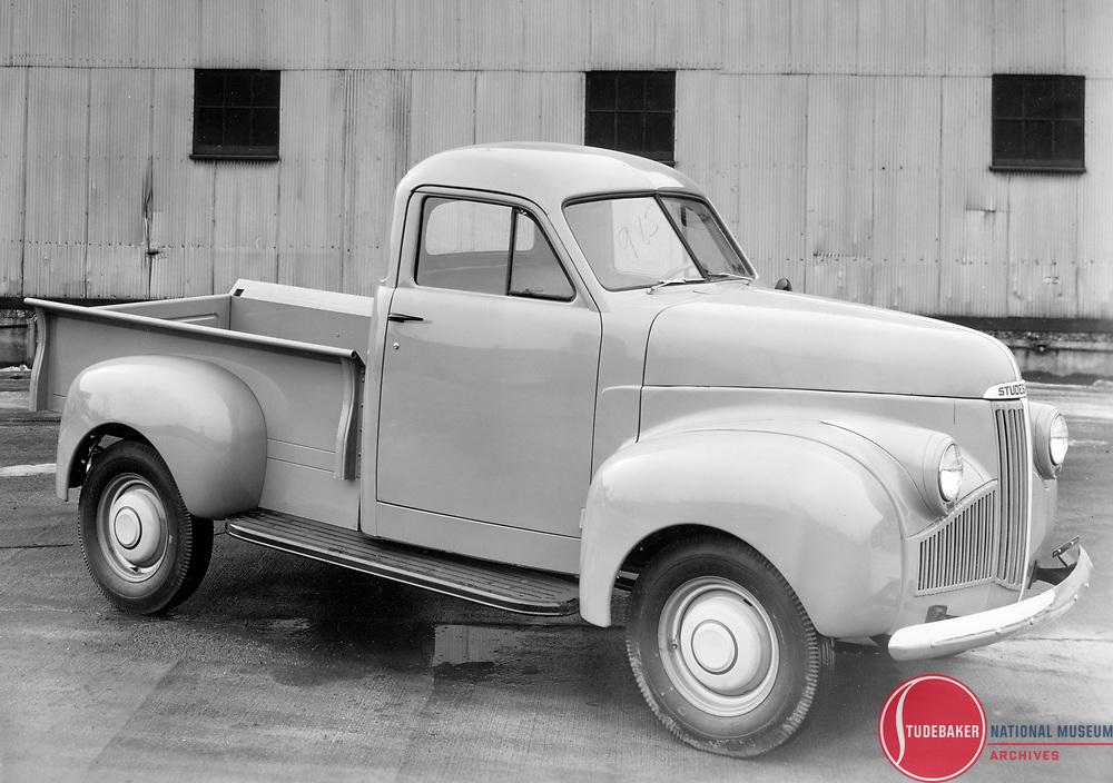 """1942 Studebaker M5 pickup truck """"blackout"""" model."""