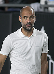 July 26, 2017 - Los Angeles, California, U.S - Coach, Pep Guardiola of Manchester City gives instructions during their International Champions Cup game with Real Madrid at the Los Angeles Memorial Coliseum in Los Angeles, California on Wednesday July 26, 2017. Manchester City defeats Real Madrid, 4-1. (Credit Image: © Prensa Internacional via ZUMA Wire)