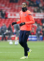 Blackburn Rovers' Tosin Adarabioyo during the pre-match warm-up <br /> <br /> Photographer David Shipman/CameraSport<br /> <br /> The EFL Sky Bet Championship - Nottingham Forest v Blackburn Rovers - Wednesday 1st January 2020 - The City Ground - Nottingham <br /> <br /> World Copyright © 2020 CameraSport. All rights reserved. 43 Linden Ave. Countesthorpe. Leicester. England. LE8 5PG - Tel: +44 (0) 116 277 4147 - admin@camerasport.com - www.camerasport.com