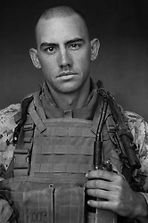 2nd Lt. William Kallop, 23, New York, New York, Third Platoon, Kilo Co., 3rd Battalion 1st Marines, 1st Marine Division, United States Marine Corps, at the company's firm base in Haditha, Iraq on Sunday Oct. 22, 2005.