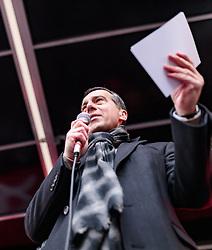 24.02.2018, Goldenes Dachl, Innsbruck, AUT, Landtagswahl in Tirol 2018, SPOe Wahlkampfschlussveranstaltung, im Bild Bundesparteiobmann Christian Kern (SPOe) // during a campaign event of the SPOe Party for the State election in Tyrol 2018. Goldenes Dachl in Innsbruck, Austria on 2018/02/24. EXPA Pictures © 2018, PhotoCredit: EXPA/ JFK