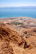 Dead Sea, Israel view east into the lake Overlooking Kibbutz Ein Gedi