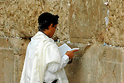 praying at The Wailing Wall, Jerusalem, Israel