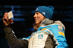 November 23, 2018 - Killington, Vermont, United States - PETRA VLHOVA of Slovakia at the bib draw ceremony before the Killington Cup ski races. (Credit Image: © Christopher Levy/ZUMA Wire)