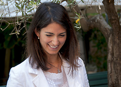 June 23, 2017 - Rome, Italy, Italy - The mayor of Rome, Virginia Raggi inaugurates the new Food Point at the Tourist Information Point of Fori Imperiali street. In addition to the mayor present at the inauguration, the Councilor for Economic Development and Tourism of Rome Capital Adriano Meloni, the Ad of Zètema Albino Ruberti and the Chairman of the Capitoline Tourism Commission Carola Penna. (Credit Image: © Patrizia Cortellessa/Pacific Press via ZUMA Wire)