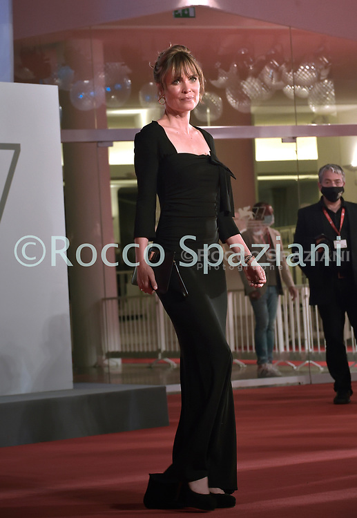 """VENICE, ITALY - SEPTEMBER 10: Radha Mitchell the red carpet ahead of the movie """"Run Hide Fight"""" at the 77th Venice Film Festival on September 10, 2020 in Venice, Italy.<br /> (Photo by Rocco Spaziani)"""