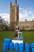 Mark Tami MP. Marking World Water Day, over 40 MP's walked for water at Westminster, London at an event organised by WaterAid and Tearfund. Globally hundreds of thousands of people took part in the campaign to raise awareness of the world water crisis.