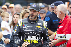 June 10, 2018 - Brooklyn, Michigan, U.S - NASCAR driver JIMMIE JOHNSON (48) walks in the pit area at Michigan International Speedway. (Credit Image: © Scott Mapes via ZUMA Wire)