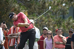 June 24, 2018 - Cromwell, CT, USA - J.B. Holmes hits his tee shot on the 5th hole during the final round of the Travelers Championship at TPC River Highlands in Cromwell, Conn., on Sunday, June 24, 2018. (Credit Image: © John Woike/TNS via ZUMA Wire)