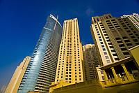 Skyscrapers on Jumeirah Beach Road, Dubai, United Arab Emirates
