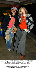 Fashion designers MATTHEW WILLIAMSON and BAY GARNETT, at a party in London on 4th May 2004.PTS 223