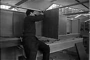 04/06/1964<br /> 06/04/1964<br /> 04 June 1964<br /> Sisk's new offices and premises at Naas Road, Clondalkin, Dublin. View workman in workshop.
