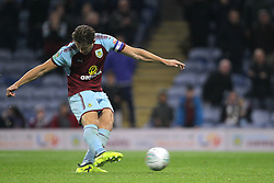 Burnley's James Tarkowski misses a penalty during the penalty shootout in the Carabao Cup, third round match at Turf Moor, Burnley.
