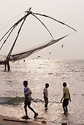 The iconic Chinese Fishing Nets in Cochin, Kerala, India